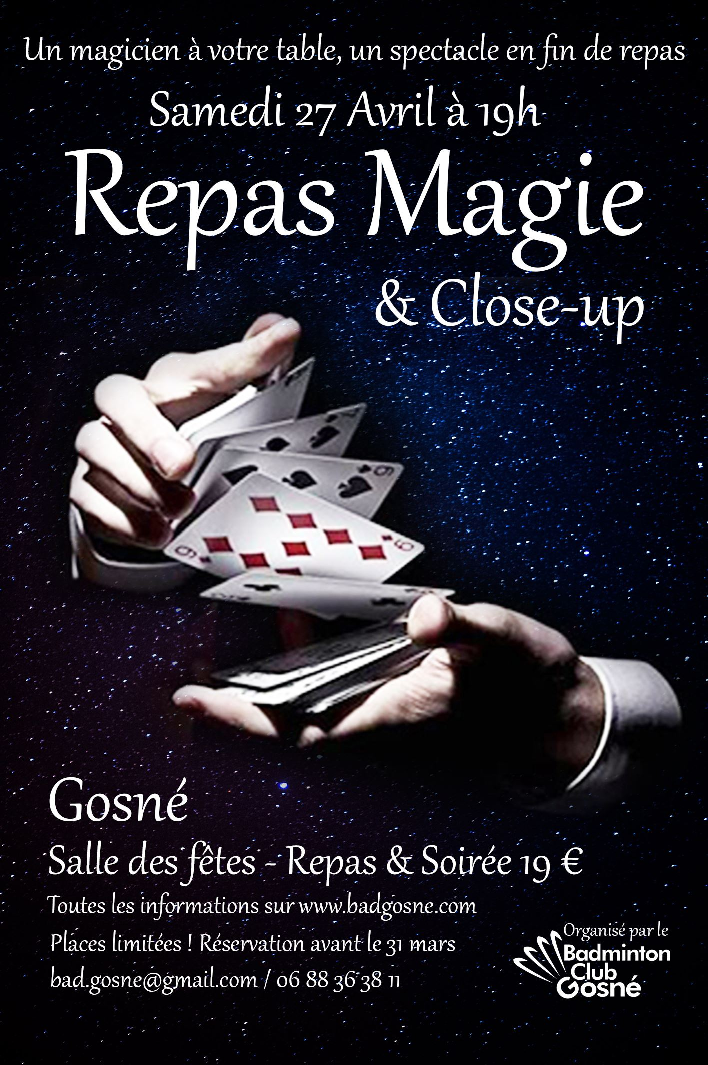 Repas du 27 avril : magie au programme !